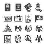 Naród, narodowość, tożsamości ikona royalty ilustracja