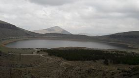 Nar Lake in Nevşehir, Turkey stock images