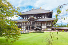 Nara Great Temple. Todai-ji - a Buddhist Eastern Great Temple. Its Great Buddha Hall, houses the worlds largest bronze statue of the Buddha Vairocana, known in Stock Photos