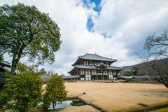 NARA, JAPÃO - 12 DE MARÇO DE 2012: O salão principal de Todaiji, o Daibutsud Fotos de Stock