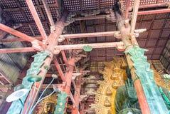 NARA, JAPAN - APRIL 2016: Interior of Todai-Ji Temple. It is a B Royalty Free Stock Images