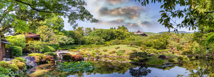 Nara, Japan - Isuien Garden. Japanese style garden.  royalty free stock images