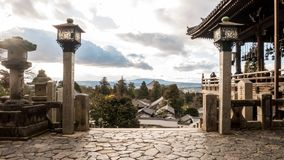View from the top of Nara Park royalty free stock photography