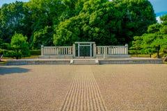 Nara Japan - Juli 26, 2017: Härligt utomhus- av en parkera i Nara, Japan Nara är en tidigare huvudstad av Japan Arkivfoto