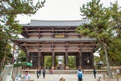 NARA, JAPAN - 12. MÄRZ 2012: Todaijis Haupthalle, das Daibutsud Stockbild