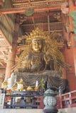 NARA JAPAN - MAJ 11: Den stora Buddha i den onMay Todai-ji templet Arkivbilder
