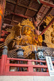 NARA JAPAN - MARS 12, 2012: Todaiji tempel (läge av utmärkt Royaltyfri Foto