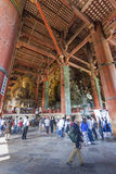 NARA, JAPAN - MAY 11: The Great Buddha in Todai-ji temple onMay Royalty Free Stock Images