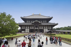 Nara, Japan- May 2016:Todaiji Temple in Nara Park. This is the biggest wooden temple in the world Royalty Free Stock Photo