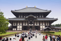 Nara, Japan- May 2016:Todaiji Temple in Nara Park. This is the biggest wooden temple in the world Stock Image