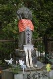Nara, Japan - Mei 31, 2017: Vreedzame statu van steen relegious Jizo Royalty-vrije Stock Foto's