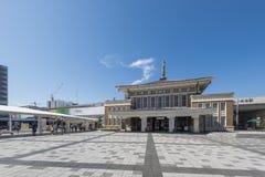 NARA, JAPAN - 7. OKTOBER 2016: Nara City Tourist Information Center bei Nara Station, Japan Stockfotos