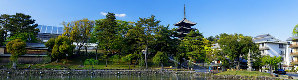 Nara, Japan at Sarusawa Pond. Stock Photo
