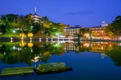Nara Japan Skyline Royaltyfri Foto