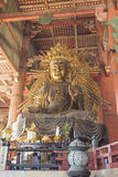 NARA, JAPON - 11 MAI : Le grand Bouddha dans le temple de Todai-JI onMay Images stock