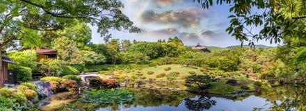 Nara Japonia, Isuien ogród, - Japończyka Stylu Ogród Obrazy Royalty Free