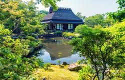 Nara Japonia, Isuien ogród, - Japończyka Stylu Ogród Zdjęcia Royalty Free