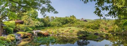 Nara Japonia, Isuien ogród, - Japończyka Stylu Ogród Fotografia Stock