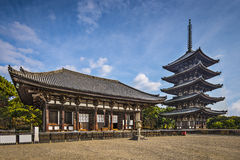 Nara at Kofukuji Temple Stock Image