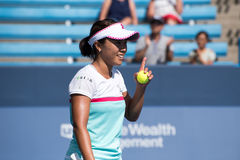 Nara 201. Mason, Ohio – August 12, 2017:  Kurumi Nara in a qualifying match at the Western and Southern Open tennis tournament in Mason, Ohio, on August 12 Stock Photography