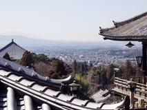 Nara stadssikt från den Nigatsudo templet Fotografering för Bildbyråer