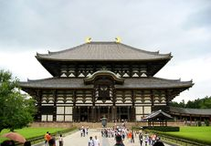 Nara Temple. Largest wooden temple in Japan stock photo