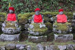 Narabi Jizo in Japan Stock Photos