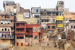 Narad Ghat, Varanasi, India Fotografia Stock Libera da Diritti