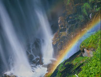 Narada Falls Rainbow Stock Photo