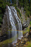 Narada Falls. With a rainbow in Mount Rainier National Park Stock Photo