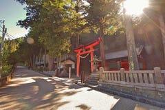 Narai是一个小镇在长野县日本 免版税库存照片