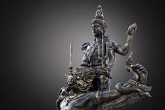 Narai and Garuda statue. Dark background Royalty Free Stock Photography