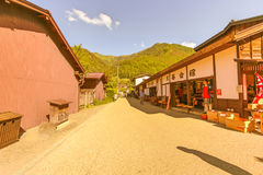 NARAI , JAPAN - JUNE 4, 2017: People are walking at traditional shops and stores of Narai is a small town in Nagano Prefecture Stock Images