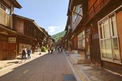 NARAI JAPAN - JUNI 4, 2017: Folket går på Narai är a Royaltyfri Fotografi