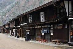 Narai Juku镇在冬天 库存照片