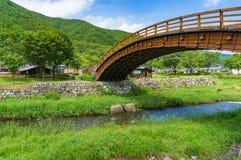Narai-juku historic Big Bridge landmark Stock Photos