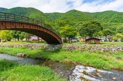 Narai-juku historic Big Bridge landmark Stock Images