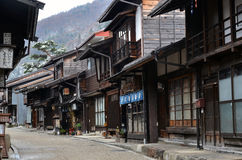 Narai Juku Town in Winter Royalty Free Stock Images