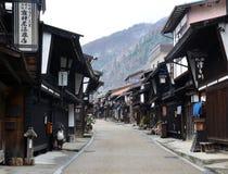 Narai Juku Town in Winter Royalty Free Stock Image