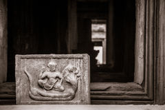 Narai with naga at Panomrung historical park Royalty Free Stock Photography