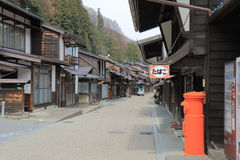 Naraijyuku historical house street Nagano Japan Royalty Free Stock Images