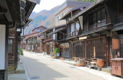Naraijyuku historical house street Nagano Japan. Naraijyuku historical house street in Kiso Nagano Japan. Naraijyuku is famous for preserved traditional houses Stock Images