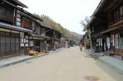 Naraijyuku historical house street Nagano Japan Stock Photos