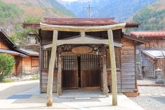 Naraijyuku shrine historical house street Nagano Japan Stock Photo