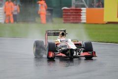 Narain karthikeyan, HRT F1 Immagini Stock