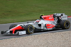 Narain Karthikeyan (IND) HRT in Germany F1 Royalty Free Stock Images