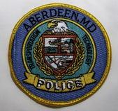 Naramienna łata Aberdeen departament policji w Maryland zdjęcia stock