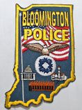 Naramienna łata Bloomington departament policji w Indiana zdjęcia royalty free