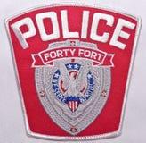 Naramienna łata Czterdzieści fortów departament policji w Pennsylwania zdjęcia stock