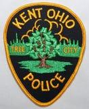 Naramienna łata Kent departament policji w Ohio obraz royalty free